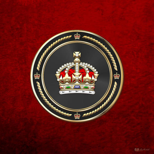 Digital Art - Imperial Tudor Crown Over Red Velvet by Serge Averbukh
