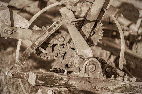 Photograph - Implement Gears by James  Meyer