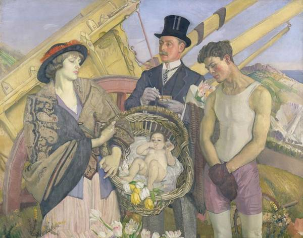 Oil Well Painting - Important People by George W Lambert