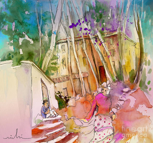 Painting - Impression Of Capileira 01 by Miki De Goodaboom