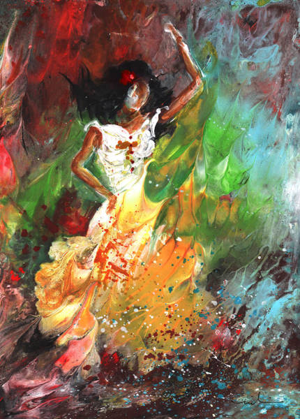 Painting - Impression Of Flamenco by Miki De Goodaboom