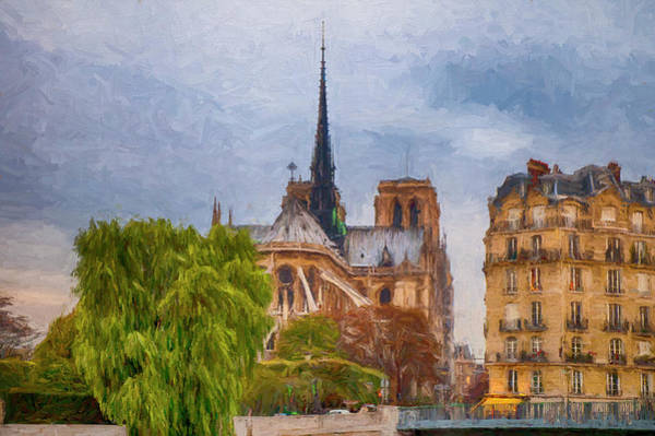 Digital Art - Impression, Paris by Mick Burkey