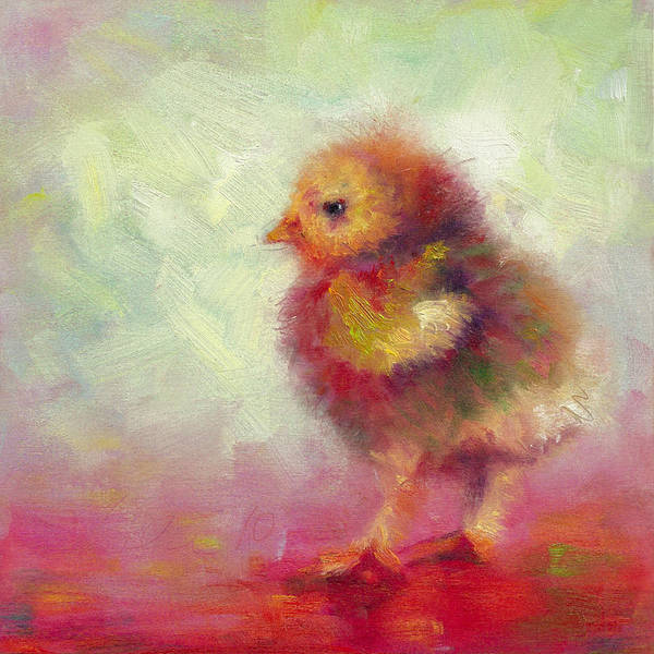Raising Wall Art - Painting - Impressionist Chick by Talya Johnson