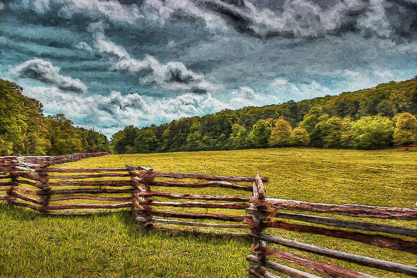 Spring Mountains Digital Art - Impressionist Kennesaw Battlefield by Daniel Eskridge