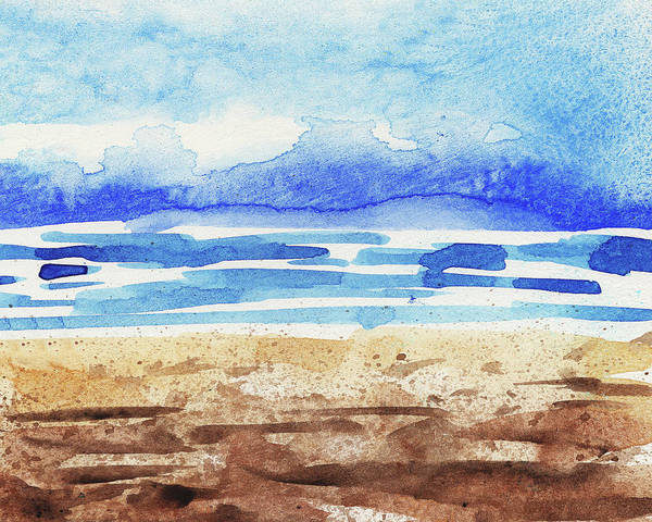 Painting - Impressionistic Sea Shore Watercolor by Irina Sztukowski