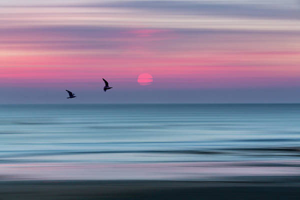 Abstract Impressionism Photograph - Impressionistic Sunset At Widemouth Bay, Bude, Cornwall, Uk.  by Maggie McCall