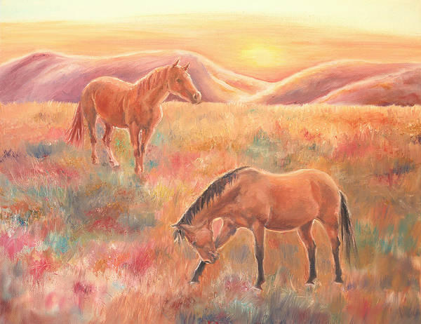 Impressions At Sunset Art Print