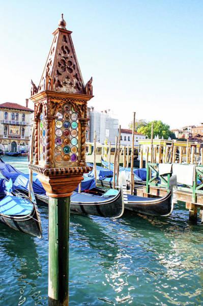 Painting - Impressions Of Venice - Jeweled Lamp On A Palace Palina by Georgia Mizuleva
