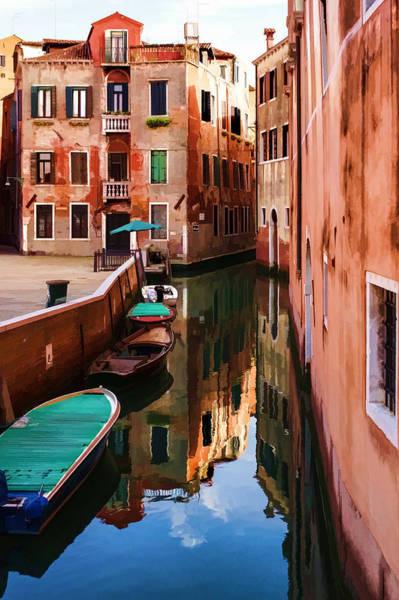 Digital Art - Impressions Of Venice - Wandering Around The Small Canals by Georgia Mizuleva