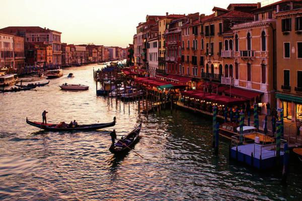 Painting - Impressions Of Venice - Warm Dusk And Gondolas On The Grand Canal by Georgia Mizuleva