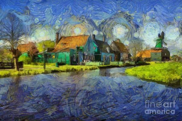 Impressions Of Zaanse Schans Art Print
