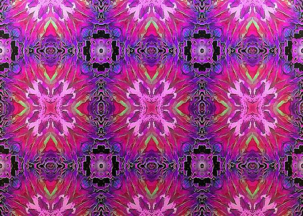 Digital Art - Impressions - Pink Carnations In A Lavender Lock by Charmaine Zoe