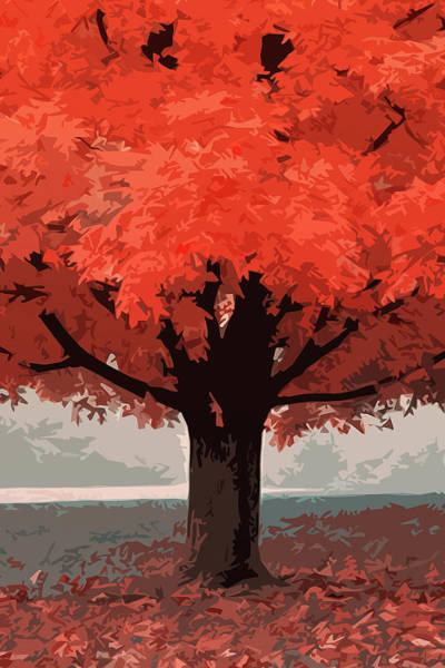 Painting - In A Beautiful Autumn Morning by Andrea Mazzocchetti