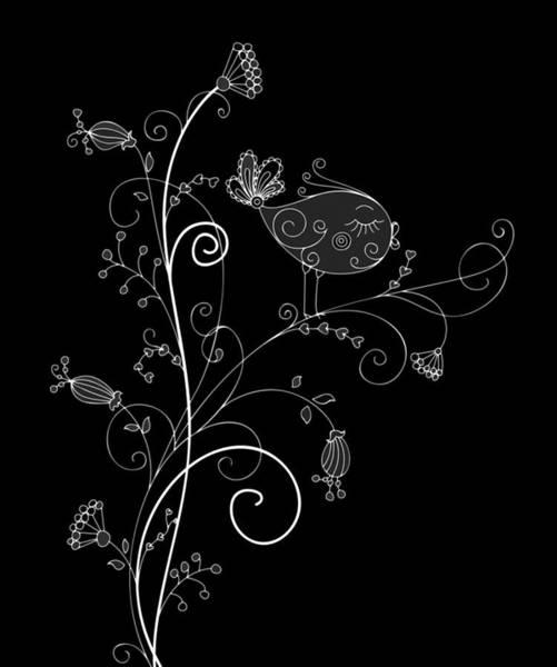 Digital Art - In A Black Bird Mood by Isabella Howard