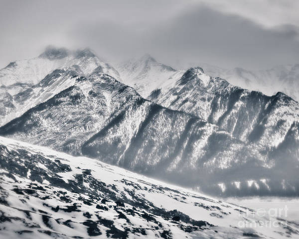 Rockies Digital Art - In A Chill And Wind-wracked Place by Royce Howland