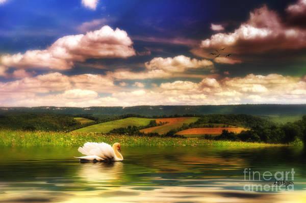 Digital Art - In A Land Far Away by Lois Bryan
