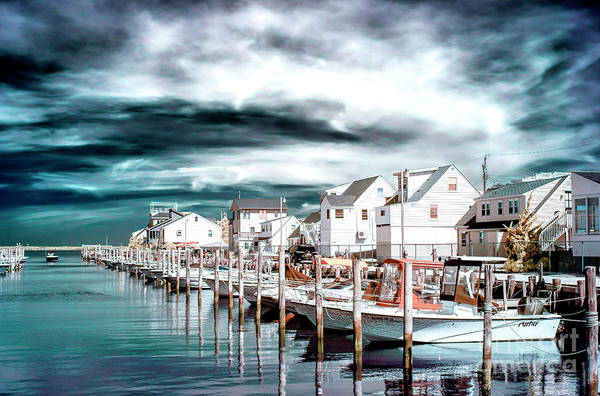 Photograph - In A Row Infrared On Long Beach Island by John Rizzuto