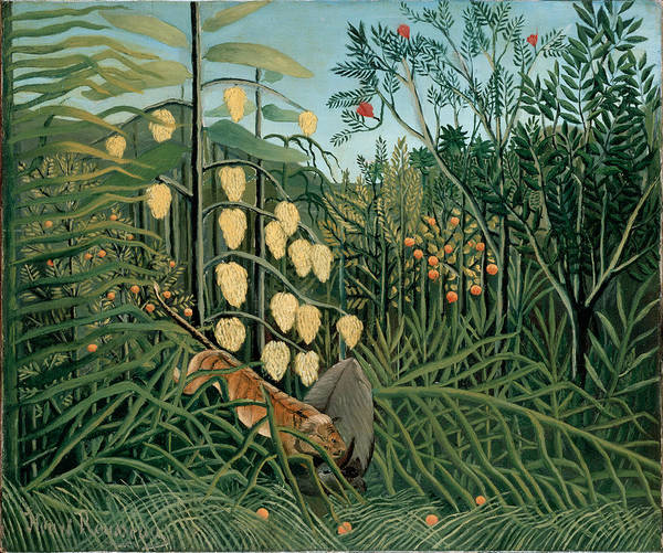 Painting - In A Tropical Forest by Henri Rousseau