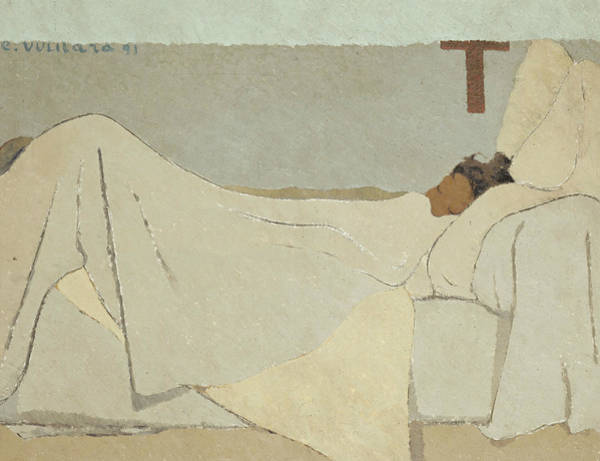 Blanket Painting - In Bed by Edouard Vuillard