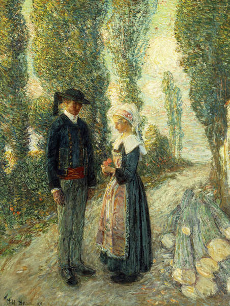 Wall Art - Painting - In Brittany Evening Hour Pont Aven by Childe Hassam