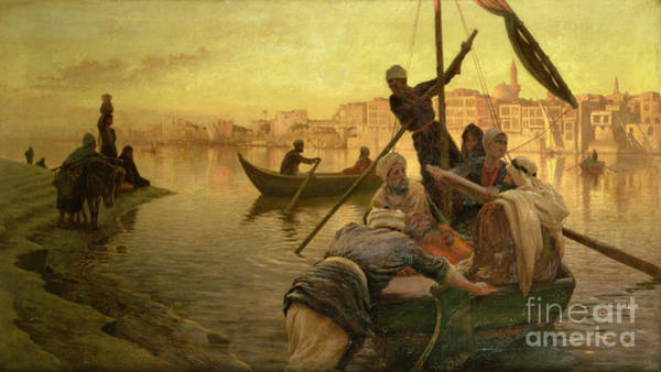 Wall Art - Painting - In Cairo by Joseph Farquharson