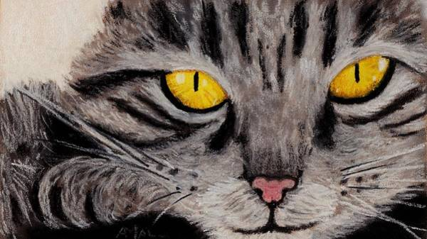 Wall Art - Painting - In Cat's Eyes by Anastasiya Malakhova