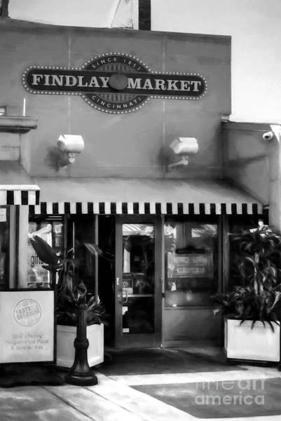 Findlay Market Photograph - In Cincinnati Since 1852 Bw by Mel Steinhauer