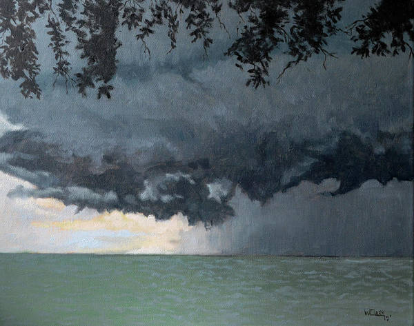Painting - In Coming Storm-epping Forest On The Lake by Wade Clark