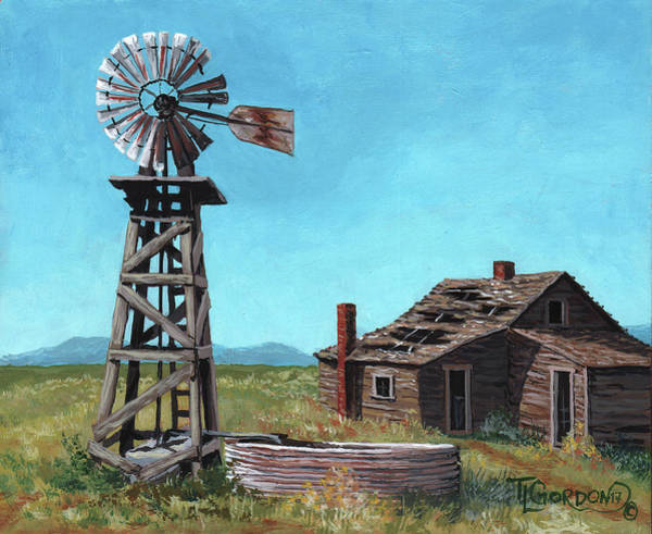 Prairie Grass Painting - In Days Past by Timithy L Gordon