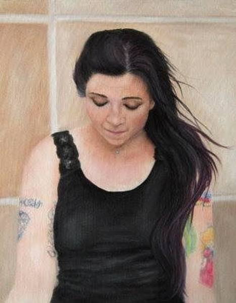 Tats Painting - In Deep Thought by Debra Babcock