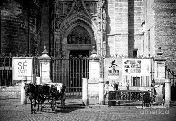 Catedral De Sevilla Wall Art - Photograph - In Front Of Sevilla Cathedral by John Rizzuto