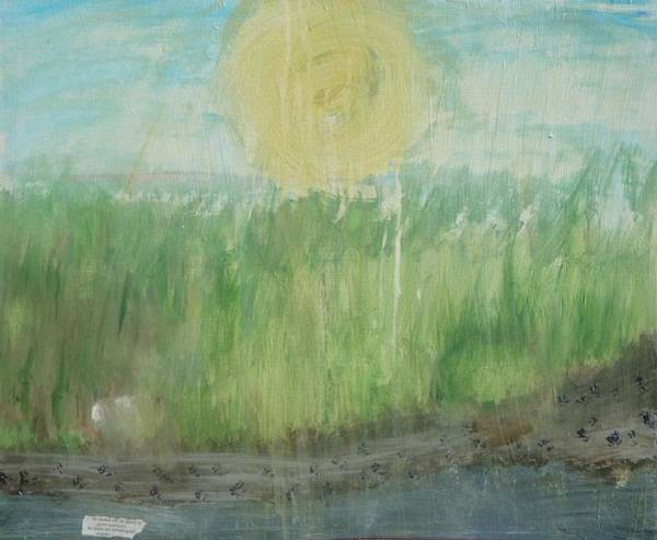 Scriptural Painting - In Green Pastures by Lisa  Graham