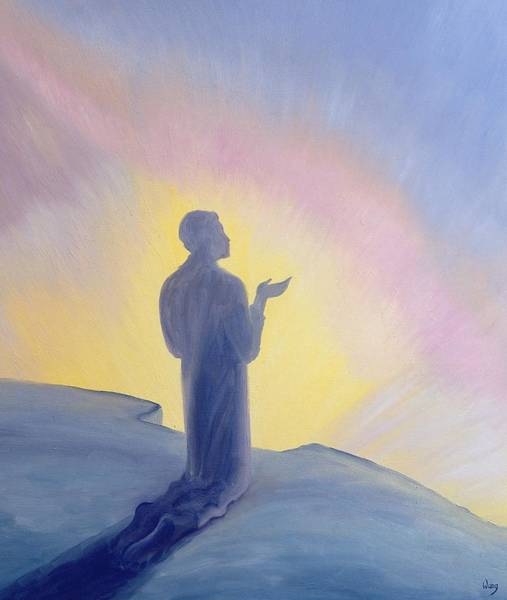Kneeling Painting - In His Life On Earth Jesus Prayed To His Father With Praise And Thanks by Elizabeth Wang