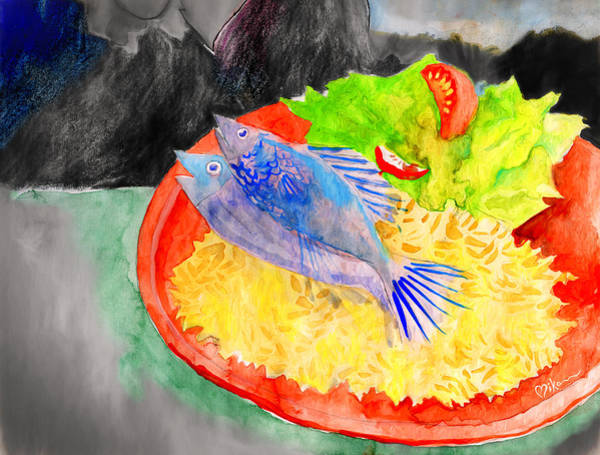 Painting - In Honor Of This Food by Miko At The Love Art Shop