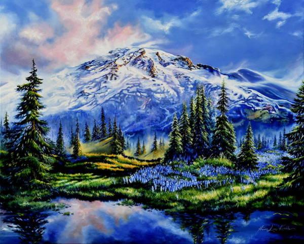 Mount Rainier Painting - In Joyful Harmony by Hanne Lore Koehler