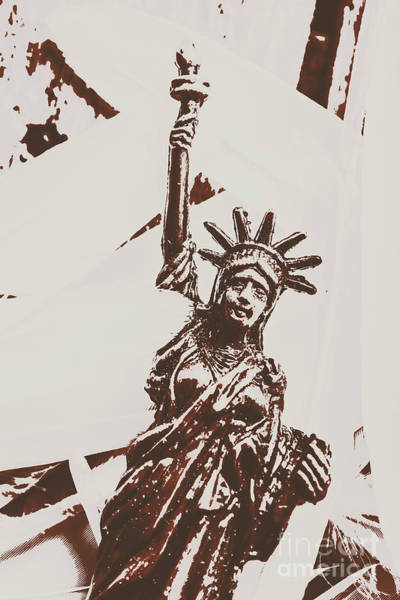 Postcard Photograph - In Liberty Of New York by Jorgo Photography - Wall Art Gallery
