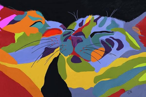 Feline Painting - In Love by Patti Siehien