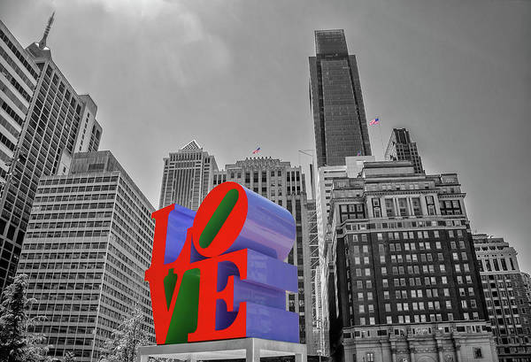Wall Art - Photograph - In Love With Philadelphia - Selective Color by Bill Cannon
