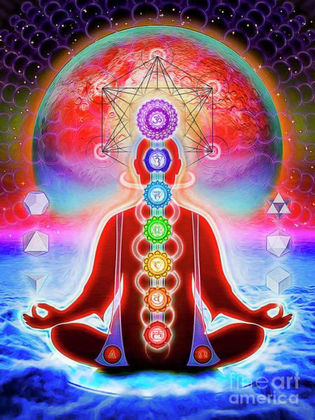 Chakra Wall Art - Digital Art - In Meditation by Dirk Czarnota