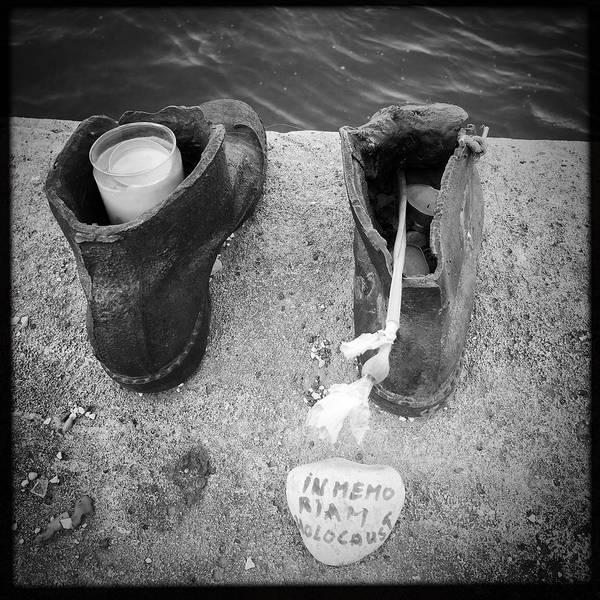 Wall Art - Photograph - In Memoriam Holocaust - Shoes Memorial Budapest by Matthias Hauser