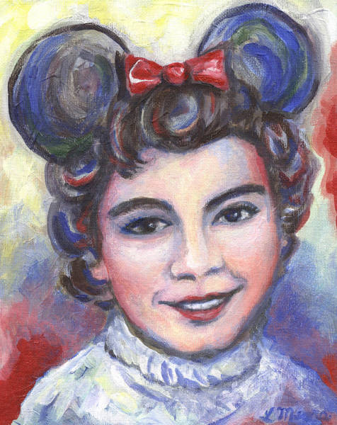 Child Actress Painting - In Memory Of Annette Funicello by Linda Mears