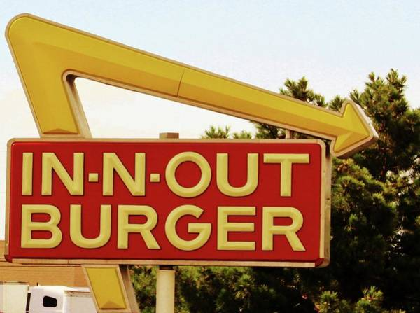 Photograph - In-n-out Burger Sign by Cynthia Guinn