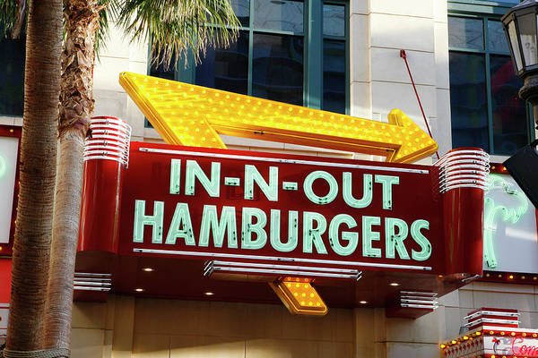 Wall Art - Photograph - In N Out Hamburgers by Marilyn Hunt