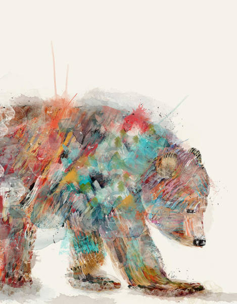 Bear Painting - In Nature Bear by Bri Buckley