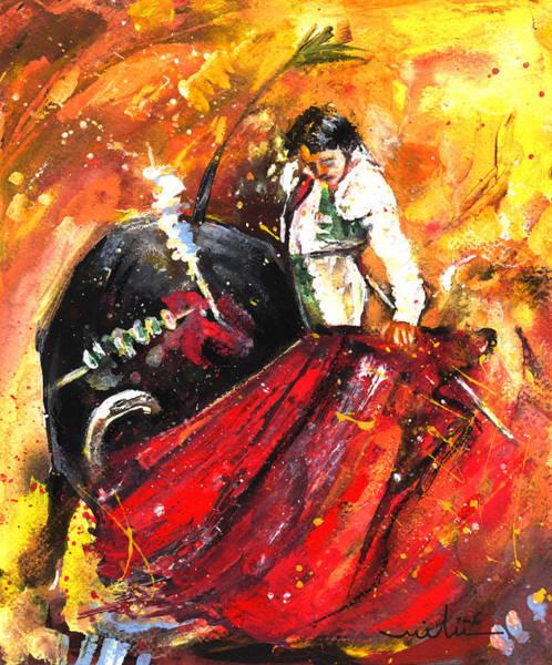 Torero Wall Art - Painting - In Passing by Miki De Goodaboom