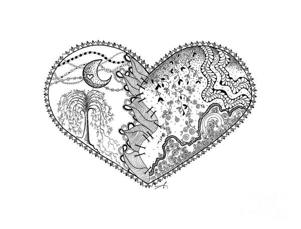 Drawing - Repaired Heart by Ana V Ramirez