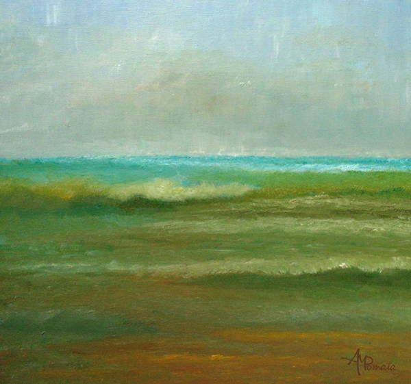 Painting - In Rough Seas by Angeles M Pomata