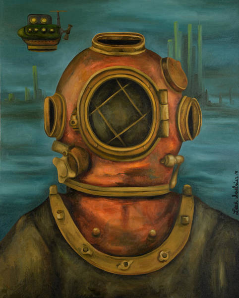 Painting - In Search Of Atlantis by Leah Saulnier The Painting Maniac