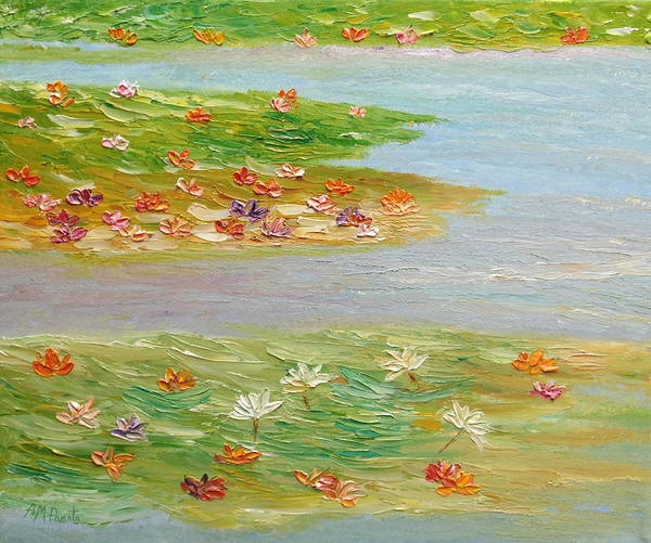 Painting - In Shallow Waters by Angeles M Pomata