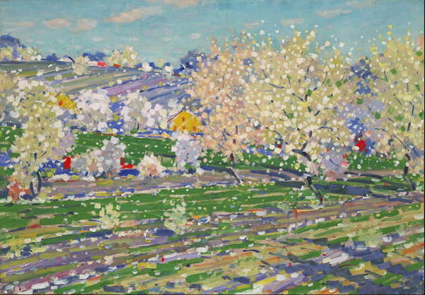 Wall Art - Painting - In Spring Blossom Time   by Vilhelms Purvtis